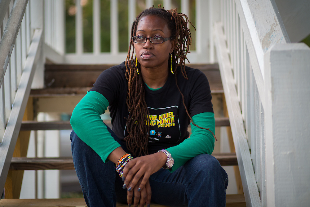 Portrait of T'Challa Williams at her home in Decatur, Ga., on Tuesday, Oct. 20, 2015. Williams is one of many who has been unable to use her RushCard, which, in this case, is a matter of life and death. Her husband has heart disease and needs to take medication to regulate his condition, and she needs the money on her card to pay for the medication. Photo by Kevin D. Liles for The New York Times