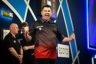 Nick Kenny (Wales), wins, celebrates, during the William Hill World Darts Championship at Alexandra Palace, London, United Kingdom on 20 December 2020.