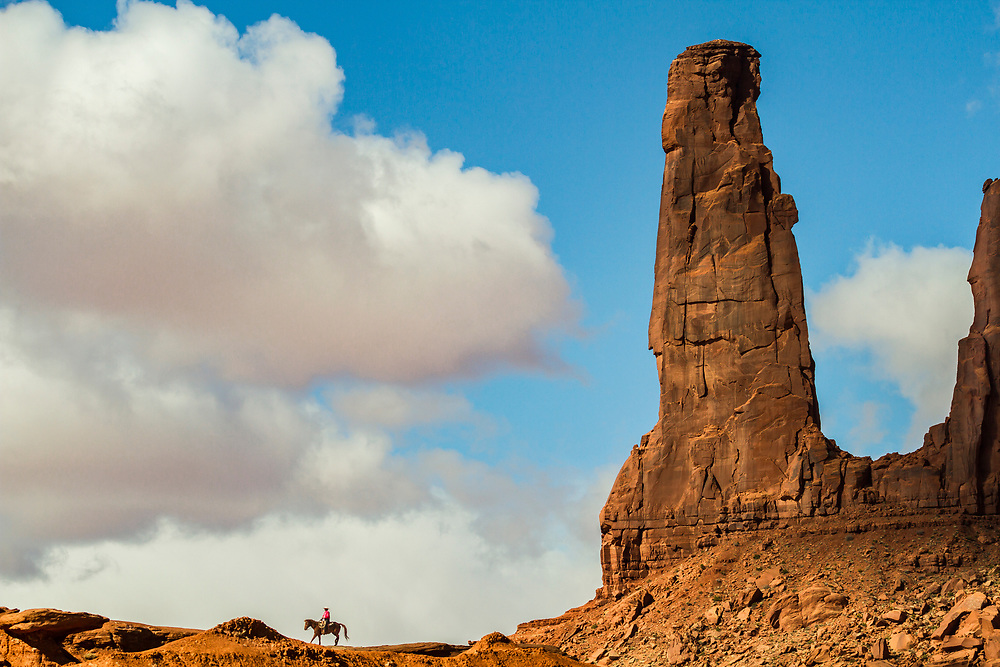 Characterized by soaring sandstone buttes and pinnacles, Monument Valley is part of the Navajo Nation Reservation.