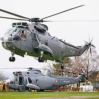 Mains Farm Wigwams Royal Navy Sea King visit 01