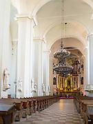 Interior view of the Vilnius University Cathedral, in Senamiestyje/Old Town, Vilnius, Lithuania