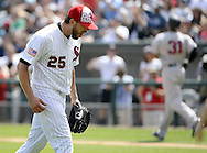 CHICAGO - JULY 04:  James Shields #25 of the Chicago White Sox reacts during the game against the New York Yankees on July 4, 2016 at U.S. Cellular Field in Chicago, Illinois.  The White Sox defeated the Yankees 8-2.  (Photo by Ron Vesely) Subject:    James Shields