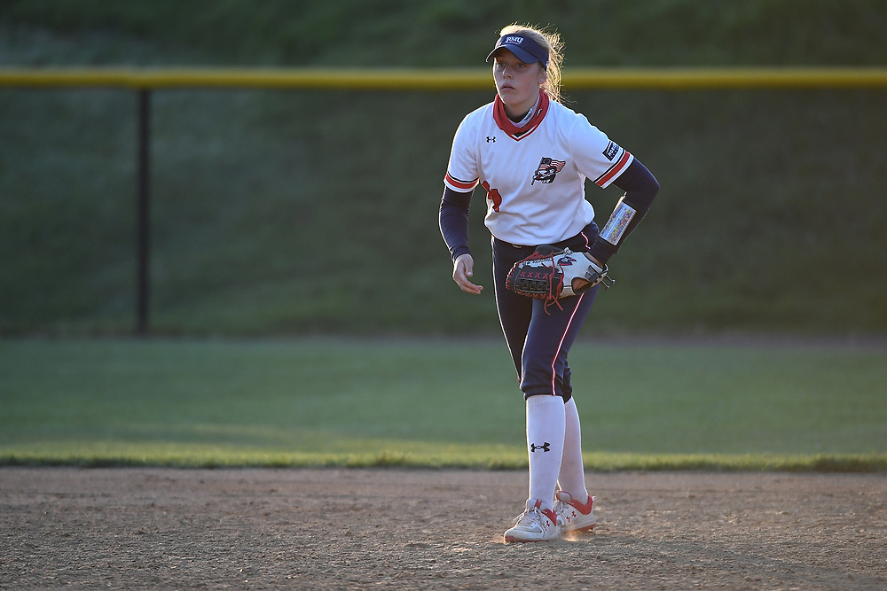 Robert Morris Softball vs. Youngstown State at the North Athletic Complex on April 23, 2021 in Moon Township, Pennsylvania. (Photo by Justin Berl/RMU Athletics)