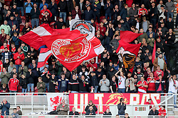 Middlesbrough fans in the stands prior to the match