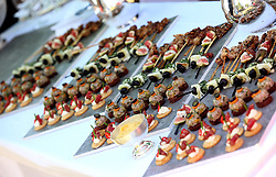 Canapes on a table during day four of Royal Ascot at Ascot Racecourse