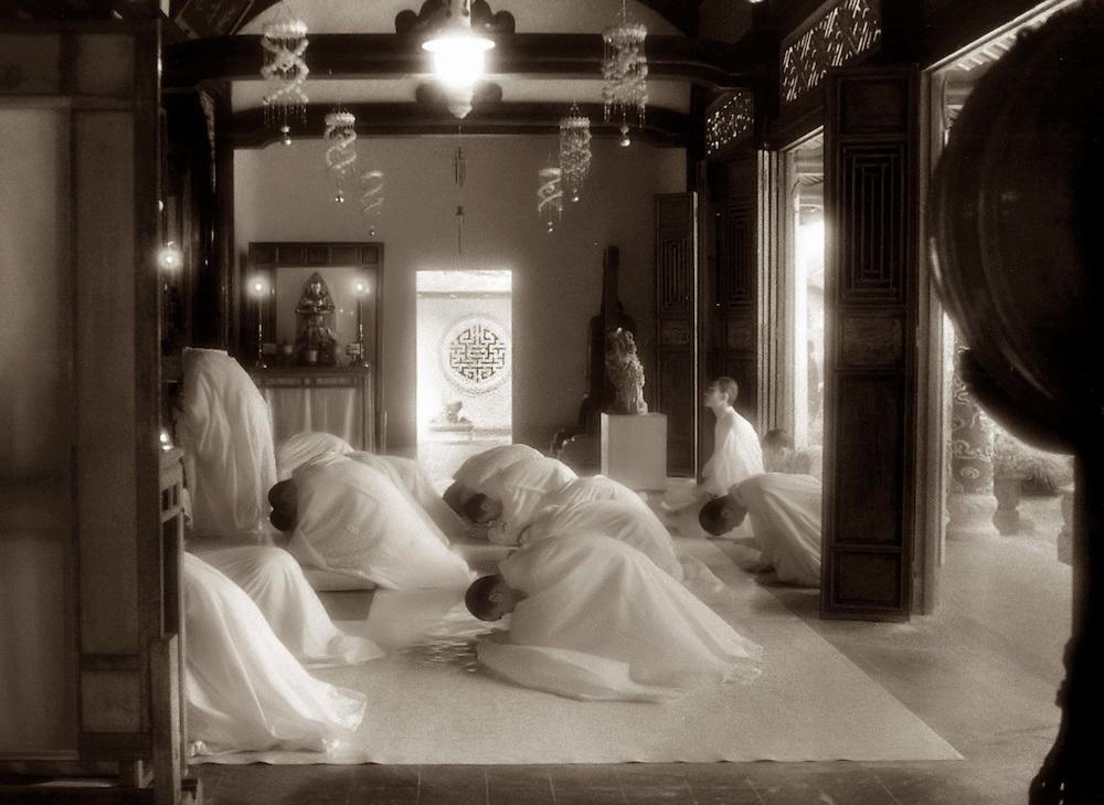 Bowing Monks - Hue, Vietnam.
