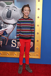 Aubrey Anderson-Emmons, Universal Pictures film premiere for Sing at LA Live (Los Angeles, CA.)