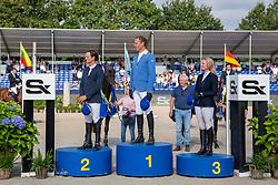 Gaublomme Arnaud, Ahlmann Christian, Eggens Nicole<br /> CHIO Aachen 2021<br /> © Hippo Foto - Sharon Vandeput<br /> 26/09/21
