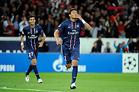 FOOTBALL - UEFA CHAMPIONS LEAGUE 2012/2013 - GROUP STAGE - GROUP A - PARIS SAINT GERMAIN v DYNAMO KIEV - 18/09/2012 - PHOTO JEAN MARIE HERVIO / REGAMEDIA / DPPI - JOY THIAGO SILVA (PSG) AFTER HIS GOAL