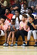 NORTH AUGUSTA, SC. July 10, 2019. Fans cheering at Nike Peach Jam in North Augusta, SC. <br /> NOTE TO USER: Mandatory Copyright Notice: Photo by Alex Woodhouse / Jon Lopez Creative / Nike