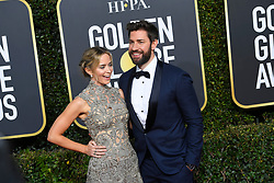 January 6, 2019 - Los Angeles, California, U.S. - Emily Blunt and John Krasinski during red carpet arrivals for the 76th Annual Golden Globe Awards at The Beverly Hilton Hotel. (Credit Image: © Kevin Sullivan via ZUMA Wire)