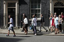 © Licensed to London News Pictures . 17/06/2017. London, UK. Victims and relatives of those affected by the Grenfell Tower fire in Kensington come to Downing Street to meet Theresa May . Photo credit: Joel Goodman/LNP