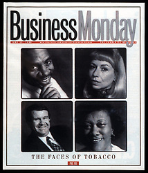 Business Monday cover - Faces of Tobacco.<br /> © The Charlotte Observer/Laura Mueller