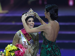 Oct. 5, 2018 - Pasay City, Philippines - Miss Philippines SHARIFA AREEF MOHAMMAD OMAR AKEEL is crowned onstage during the coronation night of the Miss Asia Pacific International 2018 in Pasay City. A total of 50 contestants from various countries and regions vied for the Miss Asia Pacific International 2018 crown. (Credit Image: © Rouelle Umali/Xinhua via ZUMA Wire)