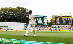 England's Joe Root looks dejected after Australia's Pat Cummins took his wicket during day three of the Ashes Test match at the Adelaide Oval, Adelaide.