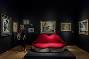 Salvador Dalí, Mae West Lips Sofa, Est. GBP 150,000 - GBP 200,000 and other works - Christie's unveil an exhibition of in advance of their Art of the Surreal sale on 27 February.