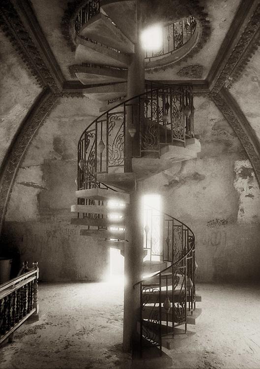 Spiral Staircase - Vientiane, Laos.