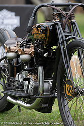 Invited builder from Built The Traditional Way, Justin Wall's 1929 custom Harley-Davidson JDH at the Born Free set-up day before the big show. Oak Canyon Ranch, Silverado, CA, USA. Friday, June 21, 2019. Photography ©2019 Michael Lichter.CA, USA.