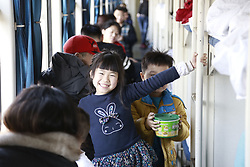 February 5, 2018 - China - Passengers at a train during the annual Spring Festival travel rush in China.The train runs for 2,895 kilometers in China. (Credit Image: © SIPA Asia via ZUMA Wire)