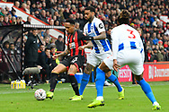Nathaniel Clyne (23) of AFC Bournemouth battles for possession with Jurgen Locadia (9) of Brighton and Hove Albion during the The FA Cup 3rd round match between Bournemouth and Brighton and Hove Albion at the Vitality Stadium, Bournemouth, England on 5 January 2019.