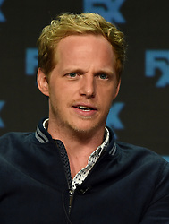 BEVERLY HILLS - AUGUST 9: Cast member Chris Geere onstage during the panel for 'You're the Worst' at the FX portion of the 2017 Summer TCA press tour at the Beverly Hilton on August 9, 2017 in Beverly Hills, California. (Photo by Frank Micelotta/FX/PictureGroup) *** Please Use Credit from Credit Field ***