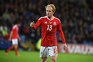 Jonathan Williams of Wales in action.Vauxhall International football friendly, Wales v The Netherlands at the Cardiff city stadium in Cardiff, South Wales on Friday 13th November 2015. pic by Andrew Orchard, Andrew Orchard sports photography.
