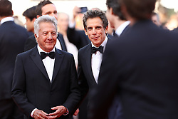 Ben Stiller and Dustin Hoffman of 'The Meyerowitz Stories' attend the 'The Meyerowitz Stories' screening during the 70th annual Cannes Film Festival at Palais des Festivals on May 21, 2017 in Cannes, France. Photo by Shootpix/ABACAPRESS.COM