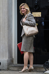 International Development Secretary Justine Greening arrives at Prime Minister David Cameron's final cabinet meeting following Theresa May's anticipated takeover as Leader of the Conservative Party and Prime Minister