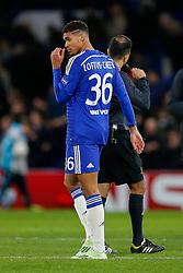 Ruben Loftus-Cheek of Chelsea, making his First Team debut, looks on after Chelsea win 3-1 - Photo mandatory by-line: Rogan Thomson/JMP - 07966 386802 - 10/12/2014 - SPORT - FOOTBALL - London, England - Stamford Bridge - Sporting Clube de Portugal - UEFA Champions League Group G.
