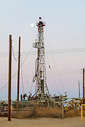 Belridge Oil Field and hydraulic fracking site is the fourth largest oil field in California. Kern County, San Joaquin Valley, California, USA