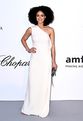 Nathalie Emmanuel attending the 25th amFAR Gala held at the Hotel du Cap-Eden-Roc in Antibes as part of the 71st Cannes Film Festival