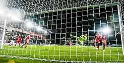 Rangers keeper Lee Robinson. Falkirk 1 v 1 Rangers, Scottish Championship game played 27/2/2014 at The Falkirk Stadium .
