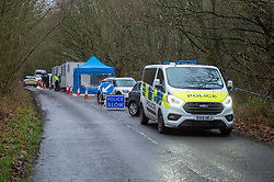 FILE IMAGE © Licensed to London News Pictures. 10/12/2019. Beaconsfield, UK. Police vehicles and portable cabins line Hedgerley Lane as the Metropolitan Police Service confirm they are searching woodland in Beaconsfield, Buckinghamshire in connection with the disappearance and murder of Mohammed 'Shah' Subhani. Police have been in the area conducting operations on Hedgerley Lane since Thursday 5th December 2019 and are combing wooded area with specialist officers assisted by specialist search dogs. Photo credit: Peter Manning/LNP