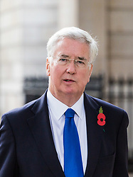 London, November 01 2017. Defence Secretary Sir Michael Fallon is seen walking on Whitehall. © Paul Davey