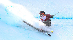 Canada's Teal Harle falls during run 4in the Men's Ski Slopestyle Skiing at the Pheonix Snow Park during day nine of the PyeongChang 2018 Winter Olympic Games in South Korea.