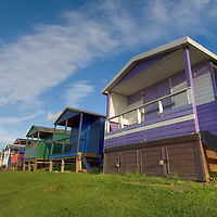 Beach huts, Tinkerton slopes, Whitstable, Kent