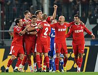 Fotball<br /> Tyskland<br /> Foto: Witters/Digitalsport<br /> NORWAY ONLY<br /> <br /> 26.09.2008<br /> <br /> Jubel 1:0 v.l. Petit, Milivoje Novakovic, Youssef Mohamad, Kevin Pezzoni, Miso Brecko, Nemanja Vucicevic, Roda Antar Koeln<br /> <br /> Bundesliga 1. FC Köln - FC Schalke 04
