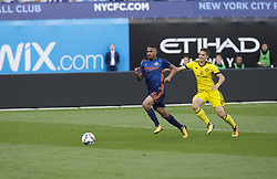October 22, 2017 - New York, New York, United States - Yangel Herrera (30) of NYC FC controls ball during MLS regular game against Columbus Crew SC at Citi Field Game ended in draw 2 - 2  (Credit Image: © Lev Radin/Pacific Press via ZUMA Wire)