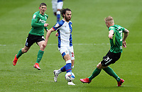Blackburn Rovers' Ben Brereton is tackled by Birmingham City's Kristian Pedersen<br /> <br /> Photographer Rich Linley/CameraSport<br /> <br /> The EFL Sky Bet Championship - Saturday 8th May 2021 - Blackburn Rovers v Birmingham City - Ewood Park - Blackburn<br /> <br /> World Copyright © 2021 CameraSport. All rights reserved. 43 Linden Ave. Countesthorpe. Leicester. England. LE8 5PG - Tel: +44 (0) 116 277 4147 - admin@camerasport.com - www.camerasport.com