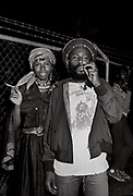 Backstage at Reggae Sunsplash Jamaica with Pam Nestor and Burning Spear - 1980