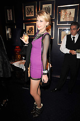 INDIA JAMES at the Tatler Little Black Book Party held at Tramp, 40 Jermyn Street, London on 3rd November 2010.