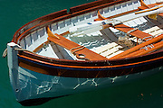 Wooden Dinghy of a sailing ship