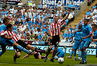Photo: Ed Godden.<br /> Coventry City v Sunderland. Coca Cola Championship. 06/08/2006. Daryl Murphy (L) scores for Sunderland.