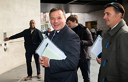 November 4, 2018 - London, London, United Kingdom - Contraversial businessman, Arron Banks, arrives at the BBC studios to appear on 'The Andrew Marr Show'. .It is claimed that he may have misled Parliament over links between his pro-Brexit campaign and his insurance business during the EU referendum. Hundreds of internal emails leaked by former employees from Eldon Insurance and Rock services reveal that Insurance staff worked on the Leave EU campaign from their company offices. He denies these claims..Arron Banks, Andrew Marr Show-4th Nov 2018. BBC Studios. (Credit Image: © Mark Thomas/i-Images via ZUMA Press)
