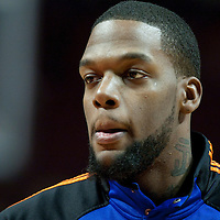 17 December 2009: New York Knicks Eddy Curry is seen prior to the Chicago Bulls 98-89 victory over the New York Knicks at the United Center, in Chicago, Illinois, USA.