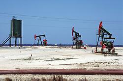 Oil wells on the north Cuban coast between Havana and Jibacoa,