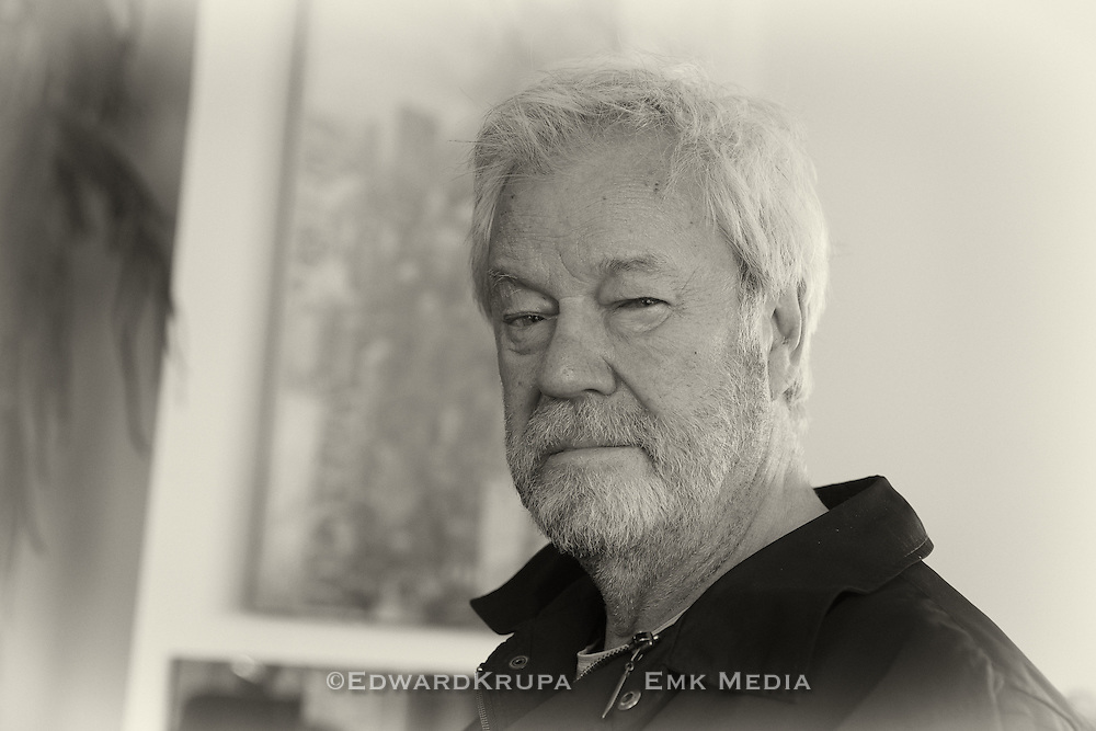 Canadian actor, writer and artist Gordon Pincent at home. Age 79.