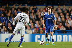 18.09.2013, Stamford Bridge, London, ENG, UEFA Champions League, FC Chelsea vs FC Basel, Gruppe E, im Bild Basel's Mohamed Salah and Chelsea's David Luiz  during UEFA Champions League group E match between FC Chelsea and FC Basel at the Stamford Bridge, London, United Kingdom on 2013/09/18. EXPA Pictures © 2013, PhotoCredit: EXPA/ Mitchell Gunn <br /> <br /> ***** ATTENTION - OUT OF GBR *****