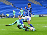 Football - 2019 / 2020 Emirates FA Cup - Third Round: Cardiff City vs. Carlisle United<br /> <br /> Josh Murphy of Cardiff City tackled by Aaron Hayden of Carlisle , at Cardiff City Stadium.<br /> <br /> COLORSPORT/WINSTON BYNORTH