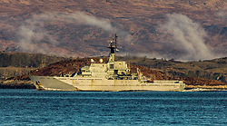 Navigation training ship and offshore patrol vessel HMS Severn in the coastal waters of the Firth of Lorne on the west coast of Scotland near Oban…….. (c) Stephen Lawson | Edinburgh Elite media